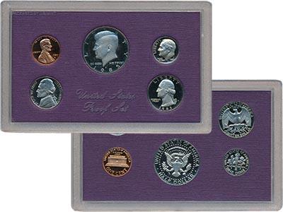 Изображение Подарочные монеты США Набор монет 1987 года 1987  Proof В набор входят пять
