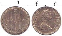 Изображение Монеты Родезия 3 пенса 1968 Медно-никель UNC-