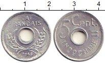 Изображение Монеты Индокитай 5 центов 1943 Алюминий UNC-