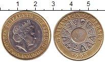 Изображение Монеты Остров Джерси 2 фунта 1998 Биметалл UNC- Елизавета II