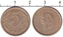 Изображение Монеты Колумбия 5 сентаво 1888 Медно-никель XF