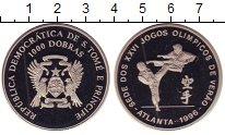 Изображение Монеты Сан-Томе и Принсипи 1.000 добрас 1996 Медно-никель Proof Олимпиада 96.  Тхэкв