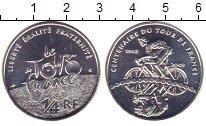 Изображение Монеты Франция 1/4 евро 2003 Серебро XF 100 лет Тур де Франс