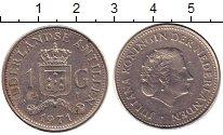 Изображение Монеты Антильские острова 1 гульден 1971 Медно-никель XF