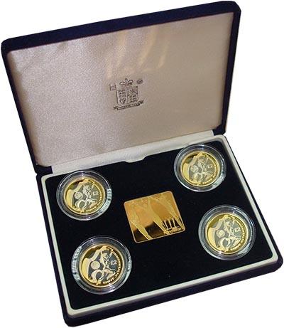 Изображение Подарочные монеты Великобритания Игры стран Содружества 2002 года 2002 Серебро Proof-