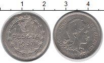 Изображение Монеты Испания 1 песета 1937 Медно-никель XF-