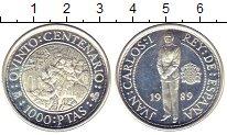 Изображение Монеты Испания 1000 песет 1989 Серебро Proof-