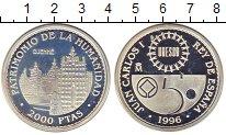 Изображение Монеты Испания 2000 песет 1996 Серебро Proof