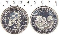 Изображение Монеты Испания 5000 песет 1990 Серебро Proof
