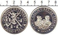 Изображение Монеты Испания 2000 песет 1990 Серебро Proof