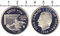 Изображение Монеты Испания 1000 песет 1999 Серебро Proof