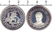 Изображение Монеты Испания 500 песет 1989 Серебро Proof 500  лет  открытия