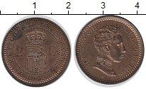 Изображение Монеты Испания 2 сентима 1905 Бронза UNC-