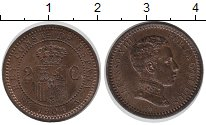 Изображение Монеты Испания 2 сентима 1904 Бронза UNC-