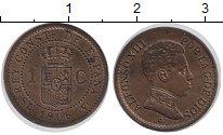 Изображение Монеты Испания 1 сентим 1906 Бронза UNC-