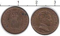 Изображение Монеты Испания 1 сентим 1906 Бронза UNC- Альфонсо XIII