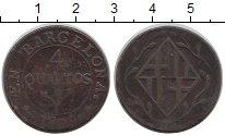 Изображение Монеты Испания Барселона 4 кварты 1809 Медь XF-
