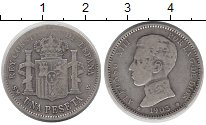 Изображение Монеты Испания 1 песета 1903 Серебро VF