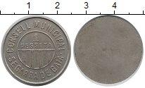 Изображение Монеты Испания 1 песета 1937 Медно-никель XF