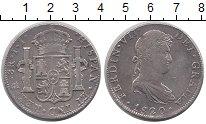 Изображение Монеты Испания 8 реалов 1820 Серебро XF-