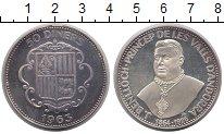 Изображение Монеты Андорра 50 динерс 1963 Серебро Proof-