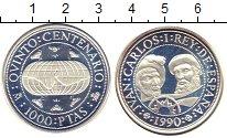 Изображение Монеты Испания 1000 песет 1990 Серебро Proof-