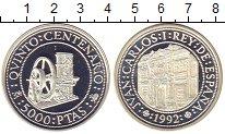 Изображение Монеты Испания 5000 песет 1992 Серебро Proof