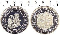 Изображение Монеты Испания 5000 песет 1992 Серебро Proof 500  лет  открытия