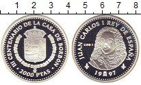 Изображение Монеты Испания 2000 песет 1997 Серебро Proof