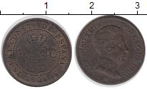 Изображение Монеты Испания 1 сентим 1906 Бронза XF