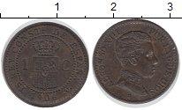 Изображение Монеты Испания 1 сентим 1906 Бронза XF Альфонсо XIII