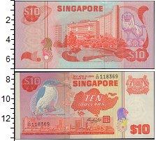 Изображение Боны Сингапур 10 долларов 0  XF