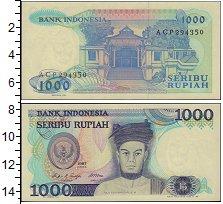 Изображение Банкноты Индонезия 1000 рупий 1987  XF