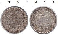 Изображение Монеты Боливия 50 сентаво 1906 Серебро VF