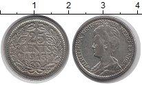 Изображение Монеты Нидерланды 25 центов 1913 Серебро XF-