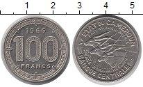 Изображение Монеты Камерун 100 франков 1966 Медно-никель XF Фауна. Антилопы