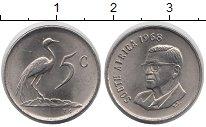 Изображение Монеты ЮАР 5 центов 1968 Медно-никель XF