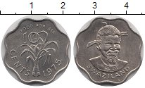 Изображение Монеты Свазиленд 10 центов 1975 Медно-никель UNC- ФАО