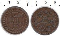 Изображение Монеты Тунис 10 сантим 1916 Медь VF