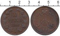 Изображение Монеты 1881 – 1894 Александр III 10 пенни 1890 Медь VF Вензель