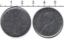 Изображение Монеты Ватикан 100 лир 1965 Железо XF