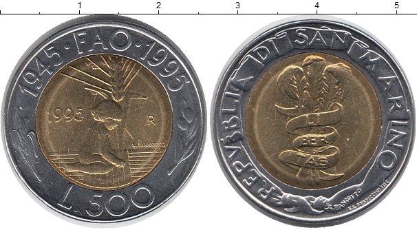 Картинка Монеты Сан-Марино 500 лир Биметалл 1995