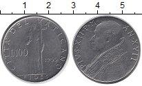 Изображение Монеты Ватикан 100 лир 1955 Железо XF