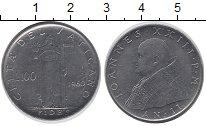 Изображение Монеты Ватикан 100 лир 1960 Железо XF