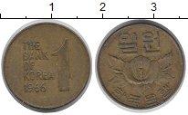 Изображение Монеты Южная Корея 1 вон 1966 Латунь VF
