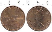 Изображение Монеты Канада 1 доллар 1987 Латунь VF