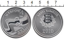 Изображение Монеты Эстония 10 крон 2010 Серебро UNC-
