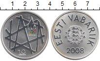 Изображение Монеты Эстония 10 крон 2008 Серебро Proof-