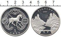 Изображение Монеты Латвия 1 лат 2007 Серебро UNC-