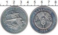Изображение Монеты Барбадос 50 долларов 1984 Серебро UNC-